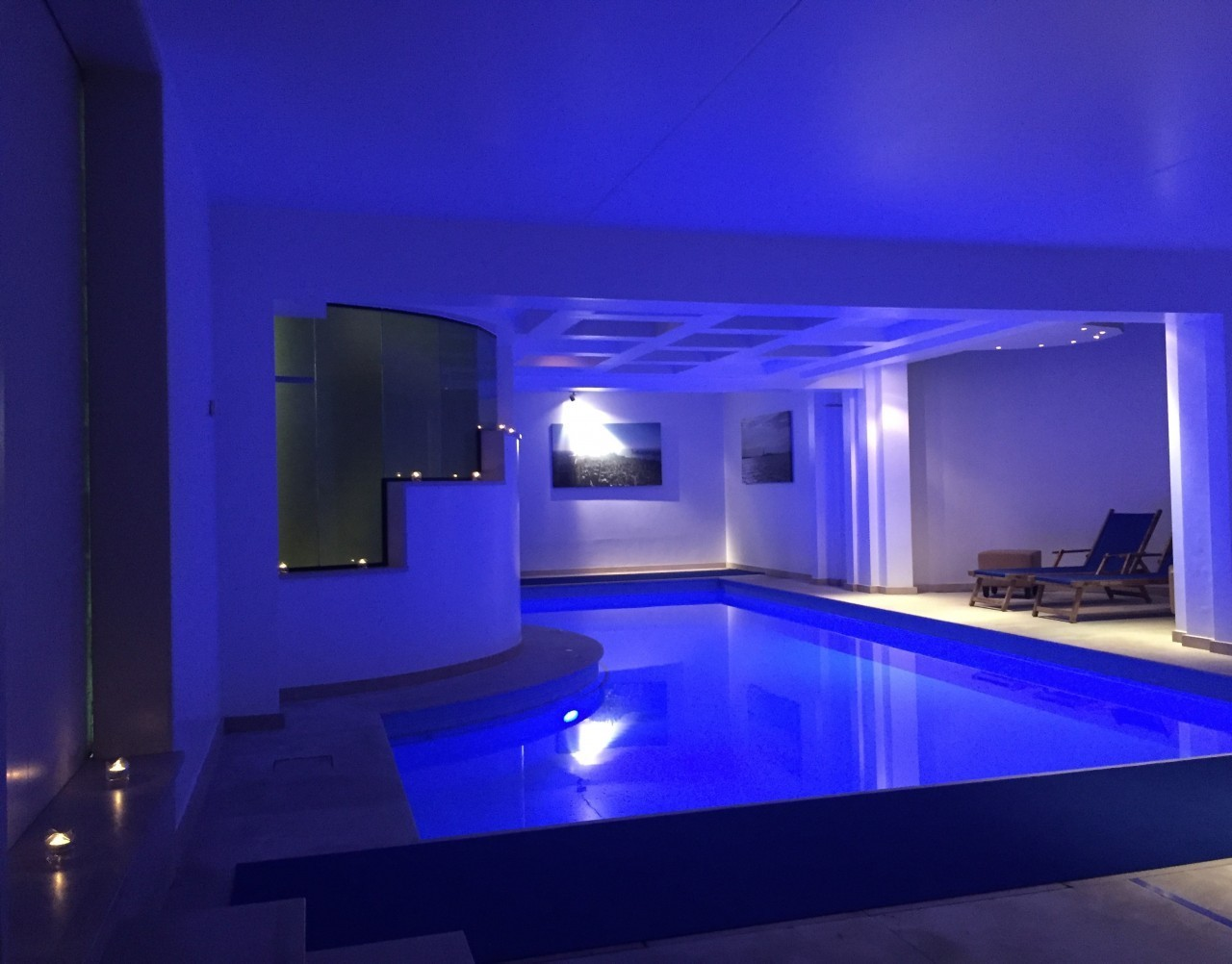 Sauna privatif Blue avec piscine